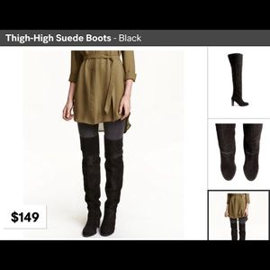H&M high tight suede boots